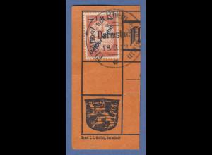 """Dt. Reich 1912 Halbamtliche Flugpost 1 M """"Gelber Hund"""" Mi.-Nr. IV auf Kartenteil"""