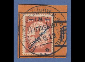 """Dt. Reich 1912 Halbamtliche Flugpost 1 M """"Gelber Hund"""" Mi.-Nr. IV auf Briefstück"""
