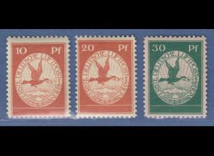 Dt. Reich 1912 Halbamtliche Flugpost Satz 10-20-30 Pfg. Mi.-Nr. I-III **