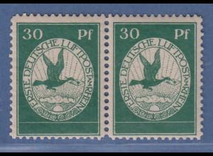 Dt. Reich 1912 Halbamtliche Flugpost 30 Pfg waag. Paar Mi-Nr. III postfrisch **