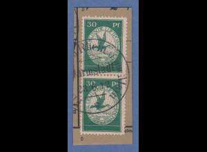 Dt. Reich 1912 Halbamtliche Flugpost 30 Pfg senkr. Paar Mi-Nr. III gestempelt