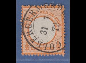 Dt. Reich kleiner Brustschild 1/2 Groschen Mi-Nr. 14 gestempelt COLBERGERMÜNDE