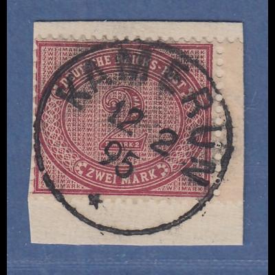 Deutsche Kolonien Kamerun Vorläufer V37 e 2 Mark mit O KAMERUN 12 2 95 Briefst.