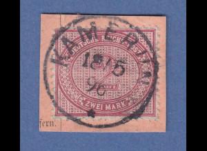 Deutsche Kolonien Kamerun Vorläufer V37e 2 Mark mit O KAMERUN 18 5 96 Briefst.