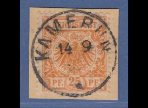 Deutsche Kolonien Kamerun Vorläufer V49b auf Briefstück O KAMERUN 14/9