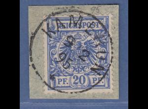 Deutsche Kolonien Kamerun Vorläufer V48d auf Briefstück O KAMERUN 9/2 95