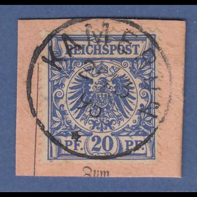 Deutsche Kolonien Kamerun Vorläufer V48d auf Briefstück O KAMERUN 2/3 95