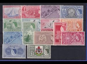 Bermuda Freimarken Mi.-Nr. 130-147 Satz inkpl. ohne 130,131,140 * / MLH