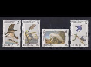 Bermuda 1985 Audubon Vögel Mi.-Nr. 454-457 Satz kpl. ** / MNH