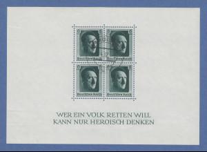 Deutsches Reich Block Hitler-Geburtstag 1937 Mi-Nr. Block 7 mit ERSTTAGS-Stempel