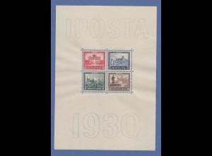 Deutsches Reich Blockausgabe IPOSTA 1930, postfrisch ** unten rechts minim. Bug
