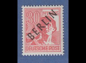 Berlin Schwarzaufdruck 30 Pfg mit Aufdruckfehler L mit Apostroph Mi.-Nr. 11 I **
