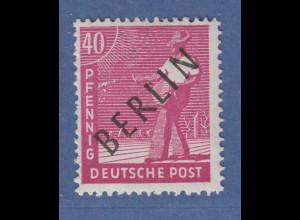 Berlin Schwarzaufdruck 40 Pfg mit Aufdruckfehler L mit Apostroph Mi.-Nr. 12 I **