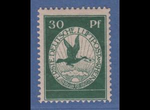 Dt. Reich 1912 Flugpost 30 Pfg-Wert Mi-Nr. III postfrisch ** tiefgrüne Nuance