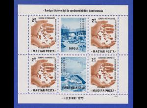 Ungarn 1973 KSZE Sicherheits-Konferenz in Helsinki Mi.-Nr. Block 98 A **