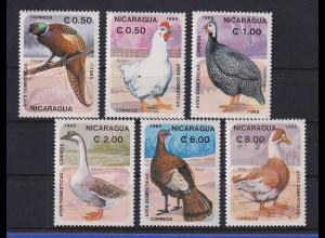 Nicaragua 1985 Vögel Mi.-Nr. 2599-2604 kpl. Satz 6 Werte **