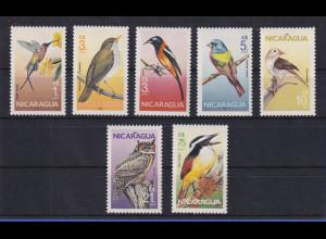 Nicaragua 1986 Vögel Mi.-Nr. 2637-2643 kpl. Satz 7 Werte **