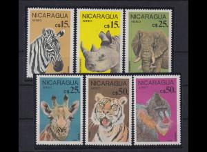 Nicaragua 1986 Geschützte Tiere Mi.-Nr. 2711-2716 kpl. Satz 6 Werte **