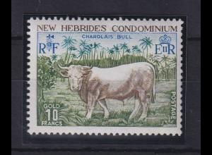 Neue Hebriden Freimarke Rind Mi.-Nr. 405 ** / MNH