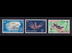 Neue Hebriden Tiere Mi.-Nr. 217-219 (ohne 216) ** / MNH