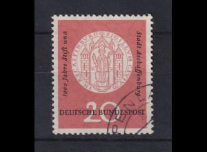 Bundesrepublik 1957 Aschaffenburg Mi.-Nr. 255 mit PLF una statt und gestempelt