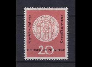 Bundesrepublik 1957 Aschaffenburg Mi.-Nr. 255 mit PLF una statt und **