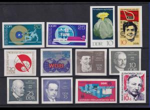 DDR 1969 Phasendrucke vollendete Phase insges. 12 UNGEZÄHNTE Marken **