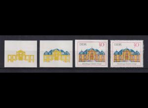 DDR 1969 3 Phasendrucke Mi.-Nr. 1438 Dornburger Schloss