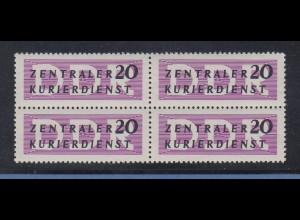 DDR 1956 Dienstmarke Mi.-Nr. 7X - die gute 20er - Viererblock postfrisch **