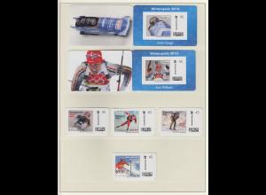 Deutsche Post MARKE INDIVIDUELL Winterspiele 2010 inges. 6 Marken **