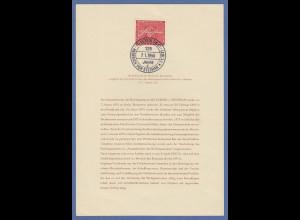 Bundesrepublik H.v. Stephan Mi.-Nr. 227 auf ETB mit selt. Sonder-O BERLIN 7.1.56
