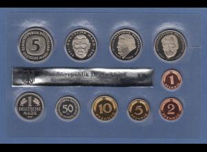 Der LETZTEN DM-Kursmünzen vor dem EURO ! Kursmünzensatz 2001 D stg. komplett