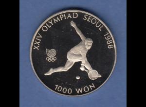 Volksrepublik Korea 1000 Won - Olympische Spiele 1988 - Tennis