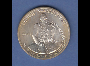 USA Silber-Gedenkmünze Silver half Dollar George Washington 1982 D