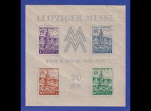 SBZ West-Sachsen 1946 Messeblock Mi.-Nr. Block 5 Xa **