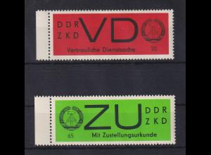 DDR Dienstmarken VD 3y und ZU 3y **