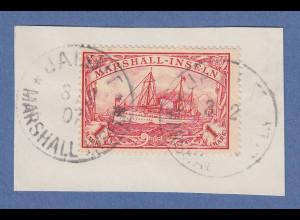 Dt. Kolonien Marshall-Inseln 1-Mark rot Mi.-Nr. 22 O JALUIT Briefst. Jäschke BPP