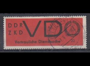DDR Dienstmarke VD 3x bedarfs-gestempelt BITTERFELD