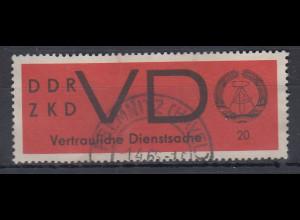 DDR Dienstmarke VD 3x bedarfs-gestempelt CHEMNITZ