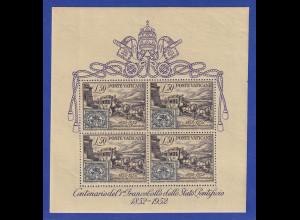 Vatikan 1952 Blockausgabe 100 Jahre Briefmarken Postkutsche Mi.-Nr. Block 1 **