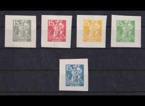 Bayern Set Essays zur Abschiedsausgabe, 1 Motiv in 5 versch. Farben, satin. Pap.