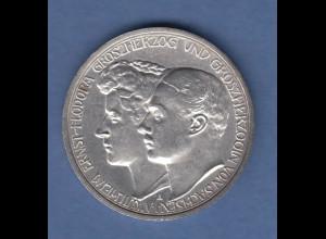 Deutsches Kaiserreich Sachsen-Weimar Hochzeit 3 Mark 1910 vz