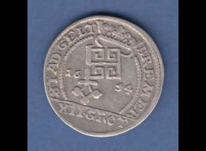 Bremen Ferdinand III. . Silbermünze 12 Grote 1654 Stadtwappen / Reichsadler