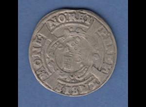 Bremen alte Silbermünze 4 Grote ca.1650 , Kreuz, Reichswappen. ANSEHEN !