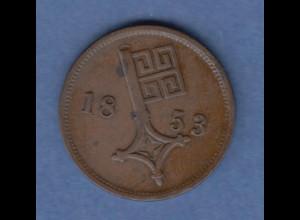 Bremen Kursmünze 2 1/2 Schwaren 1853