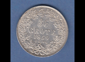 Bremen Kursmünze 36 Grote 1859