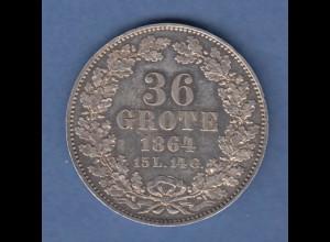 Bremen Kursmünze 36 Grote 1864