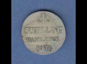 Hamburg 1841 Courantmünze 1 Schilling