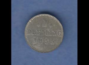 Hamburg 1851 Courantmünze 1 Dreiling , vorzüglich !