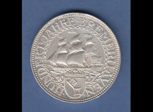 Deutsches Reich Silber-Gedenkmünze Bremerhaven 5 Mark 1927 A vorzüglich !